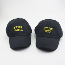 Wholesale Hats Star - RARE Star Boy Girl hat snapback Baseball Cap The Weeknd Xo Embroidered Dad Hat Drake Kanye West star bou the weeknd