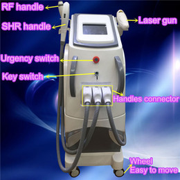 Wholesale Multifunctional Beauty Equipment - Newest multifunctional beauty equipment 3 in 1 OPT SHR + RF + Nd Yag laser beauty machine SHR hair removal machine