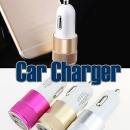 Wholesale Droid Car Charger - Best Metal Dual USB Port Car Charger Universal 12 Volt   1 ~ 2 Amp for Apple iPhone iPad iPod   Samsung Galaxy   Motorola Droid Nokia Htc