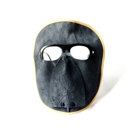 Wholesale Weld Mask - Leather Welding Mask High Temperature Ventilation Mask Anti-shock Anti-ultraviolet High Quality Saftey Insulation Weari Helmet Welding Mask
