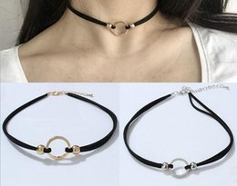 Wholesale Sexy Day Collars - Collar neckband neck chain sexy metal ring clavicle chain wild temperament necklace Gothic choker necklace wholesale free shipping