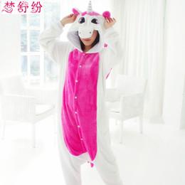 Wholesale Girls Onesie Pajamas - New Flannel Pajamas for child Flannel Unisex Winter Cartoon panda Pig Stitch unicorn Animal women pajamas Onesie Girls sleepwear