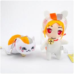 Wholesale Natsume Yuujinchou Plush Doll - Japan cat plush pendant 7CM Cheese Cat Keychain Pendant Natsume Yuujinchou Nyanko Sensei Plush Cat Anime Doll Toy Christmas Toys