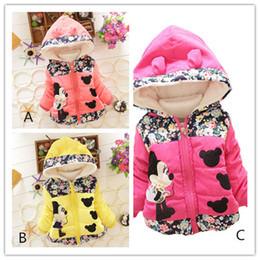 Wholesale Canvas Jacket Wholesale - Girls Cartoon Coat Baby Girls Kids Toddler Cartoon Winter Hooded Hoodies Coat Jacket Outwear Jumper Kids Winter Cotton Clothing