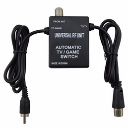 Wholesale Unit Switch - 3 in 1 Universal RF Unit Adapter Cable Automatic TV Game Switch for Super Nintendo for NES SNES SEGA Genesis