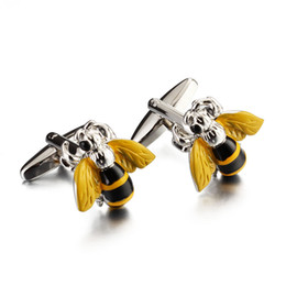 Wholesale Cuff Links Cufflinks - 2017 1 Pair New Style Brand New Men's Classic Metal Business Shirt Cufflinks High Quality Enamel Cufflinks Jewelry