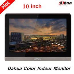 Toptan Satış - Dahua 10 inç Renk Kapalı Monitör Orijinal İngilizce Sürüm Destek SD Kart ve ses / video mesajı VTH1660CH bırakın nereden