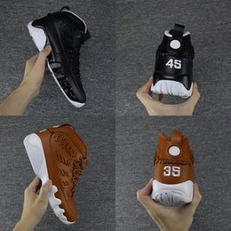 Wholesale Women Golf Gloves - 2017 Air retro 9 Baseball Glove pack Man basketball shoes Number 45 35 black Retro 9s Brand Men sport Sneakers eur 41-47