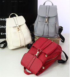 Wholesale Red Small Backpack - Fashion Classic Backpack PVC Rivets Handbags Schoolbag Woman Bags Designers Purses Ladies Handbags Totes for Women Handbag Shoulder Bags