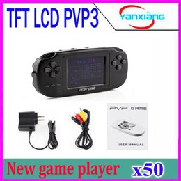 Wholesale Gba Free Shipping - DHL 50PCS Hot Sale Portable Handheld PVP Pocket TV Out 8 Bit Video Game Player Free Shipping YX-PVP3