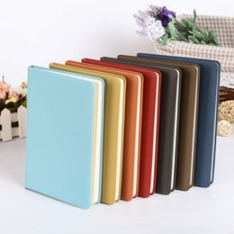 Wholesale Wholesale Diary Book - 2017 New Arrival Notebook Faux Leather Notepad Custom Diary Office Bussiness Classic Style Book With Many Colors