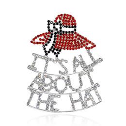 roter hutschmucksachegroßverkauf Rabatt Großhandels-Red Hat Society Schmuck