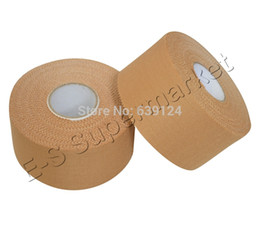 Wholesale Wholesale Sports Strapping Tape - Wholesale- 3.8cm x 13.7m Rigid Strapping Sports Tape Rayon Zinc Oxide Latex-free Rigid Athletic tape 2rolls lot Free Shipping