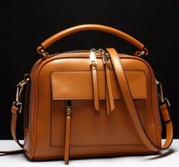 bb4ab0017d74 Zip fastener. Genuine leather. Female bag. Handbag. Fashion casual bag.  Cowhide. Soft. Small. Mini. Girl. Cross Body.Shoulder Bags.Totes.