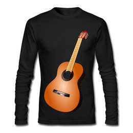 Wholesale Guitar Long Sleeve - Hot Sell Male Tee Shirt High Quality and Good Price Outdoor Shirt Round Neck Guitar Material Object Printing Tees
