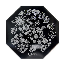 Wholesale Stamping Plate Christmas - Wholesale- New Arrival Love Heart Snowflake Image Stamping Plate Nail Art Stamp Template Stencil Christmas Nail Art Manicure DIY Tool