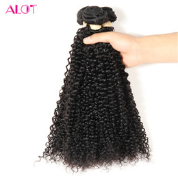 Wholesale Virgin Malaysian Remy Hair Bulk - ALOT Malaysian Human Hair Bundles Kinky Curly Weave Human Virgin Hair Bulk 3 Bundles 100% Unprocessed Natural Color Extensions 8-28inch