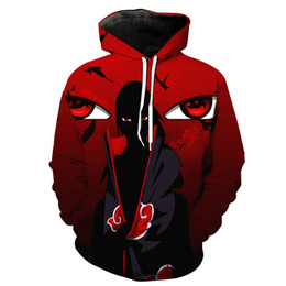 Wholesale Hipster Hoodie - Wholesale- Men Cool Anime Naruto 3D Printing Hooded Hoodies Hipster Fashion Long Sleeve Street Style Sweatshirts Spring Pocket Pullover