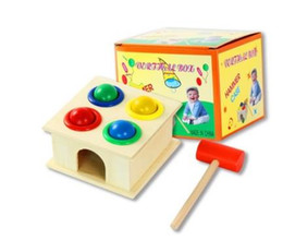 Wholesale Fun Box Games - 2017 hot Wooden Hammering Ball Hammer Box Children Fun Playing Hamster Game Toy Early Learning Educational Toys Intelligence toys