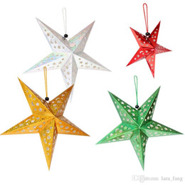 Wholesale Paper Hanging Star - 2016 Top Fashion Hot Sale Christmas Decorations Navidad 60cm Star Party Tree Laser Paper String Hanging Decoration Ornament Happy Gifts Stra