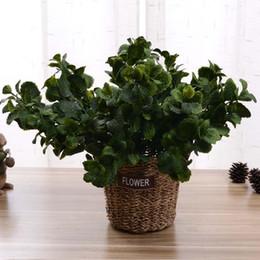 Wholesale Fake Flowers Arrangements - Wholesale-1PC Artificial Plant Plastic Fake peppermint Leaves Wedding Flower Floristry Arrangement Home Decoration 2 colours