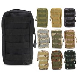 Wholesale Zipper Magazine - Tactical MOLLE PALS Modular Waist Bag Pouch Utility Pouch Magazine Pouch Tactical Bag Accessory CCA7344 50pcs