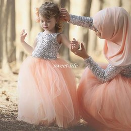 Wholesale Toddler Pageant Dress Sequined - Lovely Blush Pink Ball Gown Flower Girl Dresses 2017 with Sequined Top Long Toddlers Kids Prom Gowns for Girl Beauty Pageant Party Dress