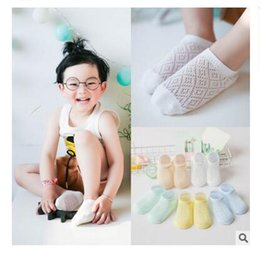 Wholesale Thin Kid Socks - Short Sock Boys Kids Girl Cotton Summer Socks Baby Mesh Thin Breathable Socks for Children Boy Spring 5 Styles DHL Free Shipping