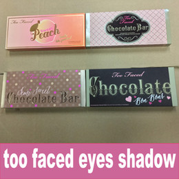 Wholesale Eyeshadow 18 Colors - Stock too faCE eye shadow palette eyeshadow Too fAce 18 colors Peaches Eye shadow Makeup Cosmetics DHL Free shipping