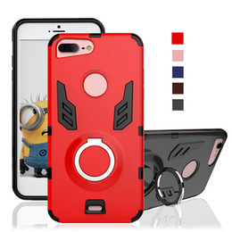 Wholesale Apple Rugged Protection - For iphone 6 Rugged Hybrid Dual Layer Protection Case Ring Kickstand Case For iPhone 7 iPhone 7 Plus with OPP Package