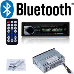 Wholesale Player Dash Kits - Bluetooth Car Stereo Audio Car 1 DIN In-Dash FM Radio Aux Input Receiver SD USB MP3 Player with Retail Packaging