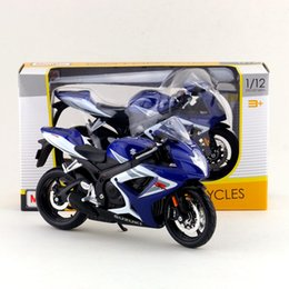 Wholesale Suzuki Toy Motorcycle - Free Shipping Maisto 1:12 Motorcycle Japan SUZUKI GSX-R750 Diecast Toy For Collection Exquisite Educational Gift Children