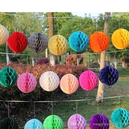 Wholesale Blowout Cards - Hot selling Wedding favors Honeycomb Balls Hanging Decor Flowers Party Honeycomb Balls Paper honeycomb ball manufacturer supplies