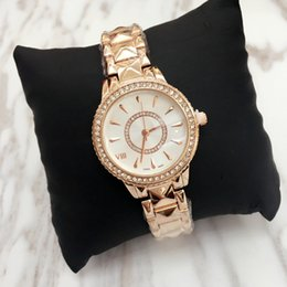 Wholesale Stainless Chain Prices - Top design Luxury Women watch Lady noble female quartz Steel Bracelet Chain rose Dress Watch with diamond Japan Movement wholesale price
