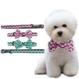 Wholesale Large Pet Id Tags - Polka Dot bowtie for dog adjustable dog bow tie collar Cute Bowtie Grooming Pet Jewelry Collar Leash
