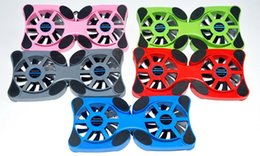 Wholesale Quiet Air - Foldbale USB Double Fans Cooling Fan Mini Octopus c Cooling Pad Quiet Stand For 7 to 14 inch Notebook Laptop PC