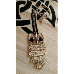 Wholesale Vintage Owl Clocks - Wholesale- Vintage Steampunk Necklace Antique Owl Clock Spider Love Pendant Chain Necklace 2016 New Jewelry For Men Women