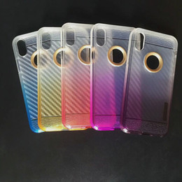 Wholesale Max Edition - Monochrome Gradient Carbon Fiber Armor Case For Alcatel A30 Fierce Metropcs TPU Edition Cell Phone Case For ZTE Blade Z Max Z982 D