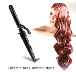 Wholesale Hair Straightener Curler Set - 09-32mm Pro Series 5 in 1 Curling Wand Set with Clips New Design Hair Curling Iron The Wand Hair Curler Roller 0604098
