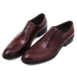 Wholesale Comfortable Mens Black Dress Shoes - New arrival Fashion mens business dress shoes leather wedding shoes Comfortable mens oxfords shoes lace-up sequined