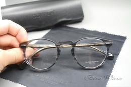 Wholesale Optical Glass Frame Women - Oliver Peoples eyeglasses big yards OV5186 Oliver - 47 mm glasses frame Vintage plank optical frames men and women eyewear frames