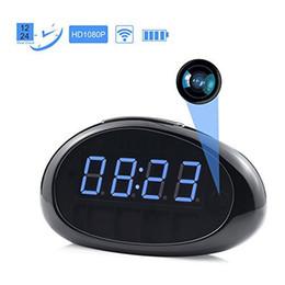 Wholesale Quality Spy Camera - Mini Hidden Spy Camera Wireless IP Security Surveillance Camera Alarm Clock 1080P HD Video Motion Detection Camcorder Recorder High Quality