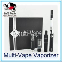 Wholesale Eletronic Vapors - 4 in 1 EVOD Multi Vape Vaporizer Kit Eletronic Cigarette Dry Herb Wax Vapor Vaporizer O Pen Vape MT3 AGO vaporizer High Quality