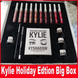 Wholesale Newest Kylie Cosmetics Holiday Collection Big Box PREORDER INTERNATIONAL Holiday Collection big box by dhl