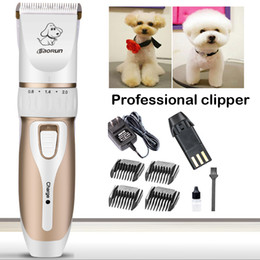 Wholesale Dog Cordless - Baorun Electric Cordless Dog Grooming Clippers Kit Titanium+Ceramic Blade Sharp Low Noise Pet Grooming Clippers Trimming Kit C29L
