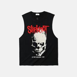 Deutschland Neue Männer T-Shirt Marke ärmellose Baumwolle Crew Neck Tank Top Heavy Metal Band Slipknot europäischen und amerikanischen Stil supplier new european men t shirt Versorgung