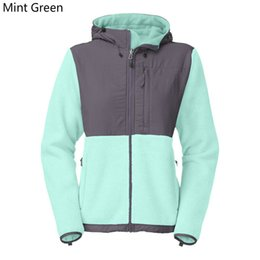 Wholesale Womens Winter Jacket Xxl - 2017 New Winter Womens Fleece Hoodies Jacket Fashion Casual Face Windproof Hooded Ski Coats Outdoor Sports Brand Mens Kids Jackets S-XXL