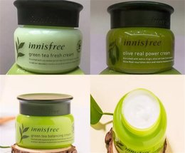 Wholesale fresh cream - Innisfree Olive Real Power Moisturizing Green Tea Fresh Cream Green Tea Balancing Cream Face Care Skin Care Cream Lotion 50ml famous Kor