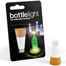 Wholesale led emergency light bars - USB Atmosphere Night Light Cork Shaped Rechargeable USB Bottle Light Bottle LED Lamp Cork Plug Wine Bottle Light Bar Party Christmas Lights