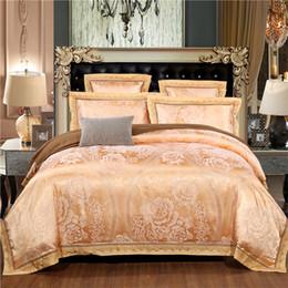 Wholesale White Cotton Lace Sheet - Wholesale- new arrival luxury lace flower cotton jacquard 4pcs 6pcs hotel pillowcase bed sheet bedclothes duvet cover set bedding set